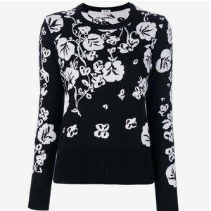 Kenzo Black Floral Crew Neck Sweater
